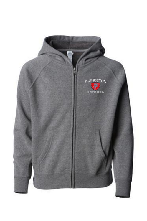 PCS Youth special blend full zip fleece in grey