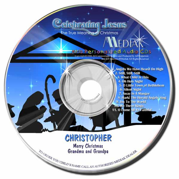Celebrating Jesus Personalized Kids Music CD