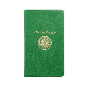 Beautiful green leather Golf Book for all golfers!