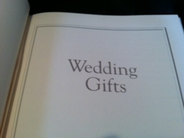 Wedding Journal - White Leather