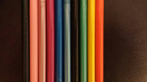 Photo 2 - Left to right: Navy, Bubble gum Pink, Pearl Pink, Fuchsia, Royal Blue, Pearl Blue, Black, Turquoise, Sunflower Yellow, Tangerine