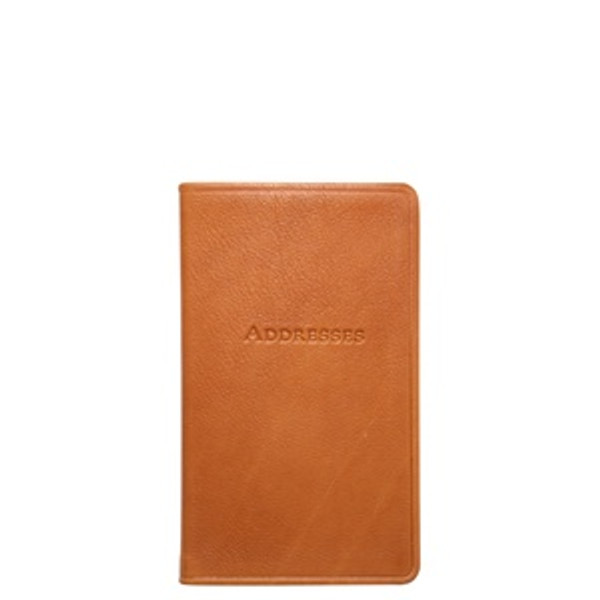 British Tan Leather Address Book