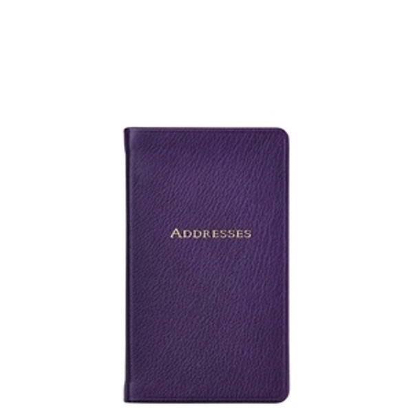 Purple Leather Address Book