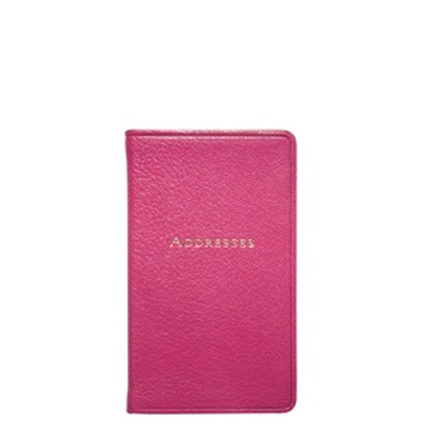 Pink Leather Address Book