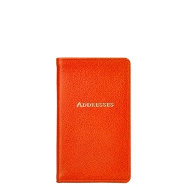Orange Leather Address Book