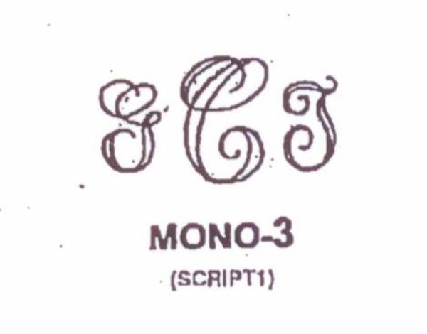 Wax Seal - Mono-3 - Monogram
