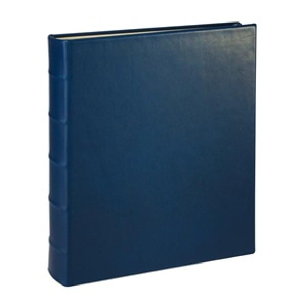 Traditional Blue Leather Loose-Leaf Photo Album