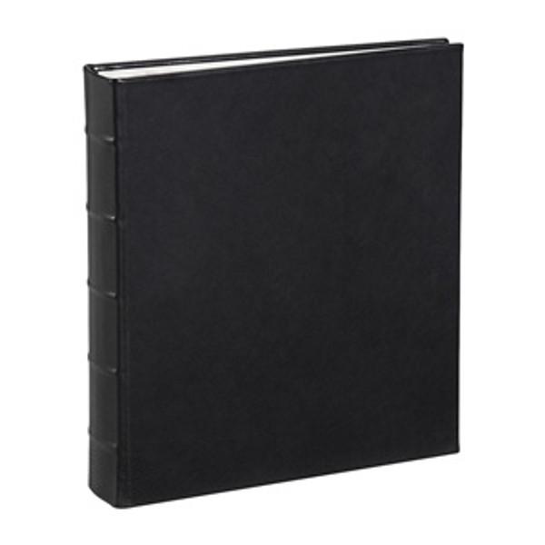 Traditional Black Leather Loose-Leaf Photo Album