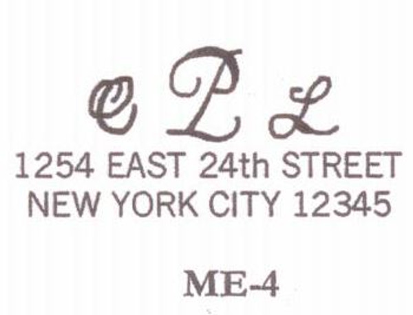 Monogram Address #4