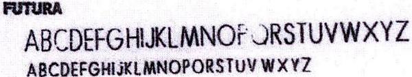 Address font Futura