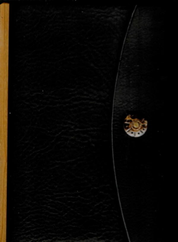 Dark chocolate, 3-ring binder with flap & button closure