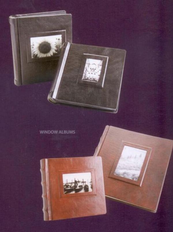 "Window Album - Italian Leather - 8"" x 8"""