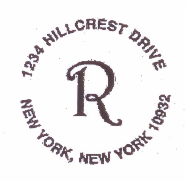 Round Address with Initial