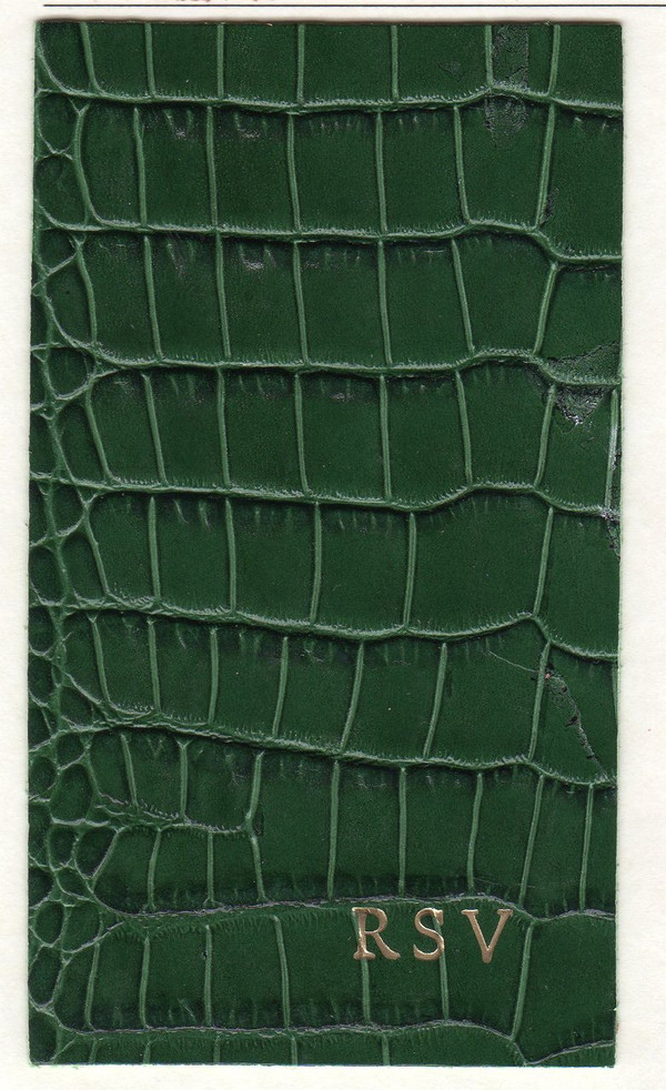 iPad Case Forest Green Croc with Monogram