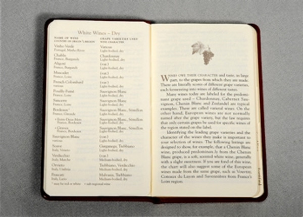 Pocket Wine Journal Open View