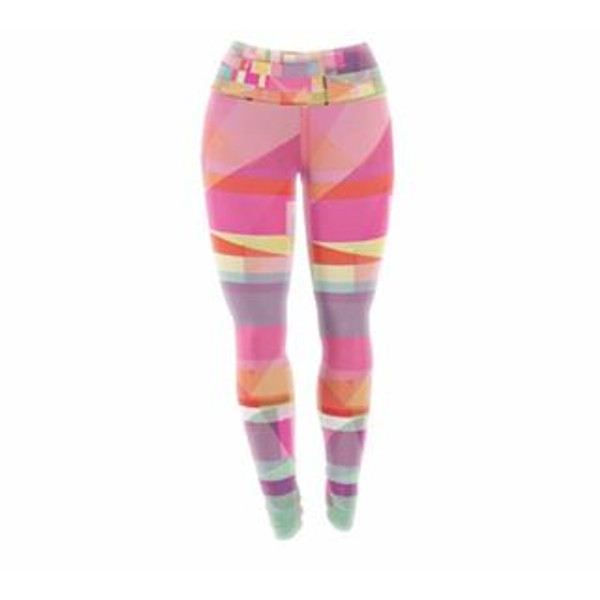 Geometric Pink Yoga Pants/Leggings - the order of the universe surrounds you