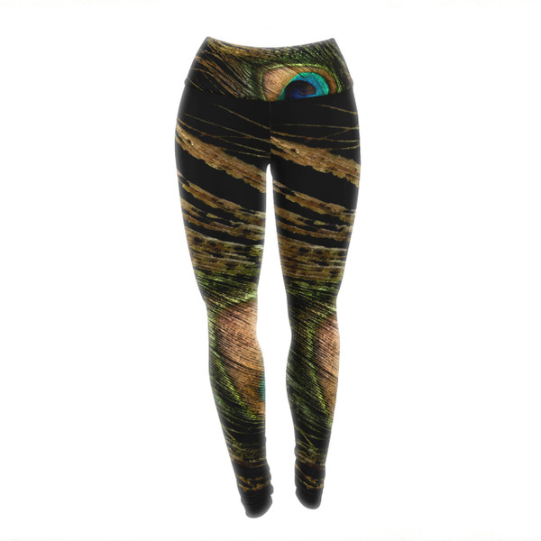 Peacock Yoga PAnts/Leggings - move with the light and and grandeur of a regal peacock