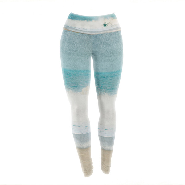 Sea with Sand Yoga Pants/Leggings - wiggle your toes and let the waves surround you