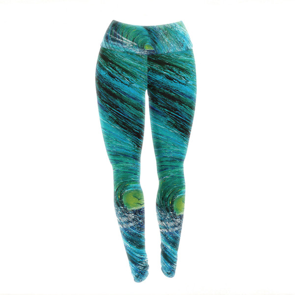 Ocean Feeling Abstract Yoga Pants/Leggings - embody the power and majesty of the sea