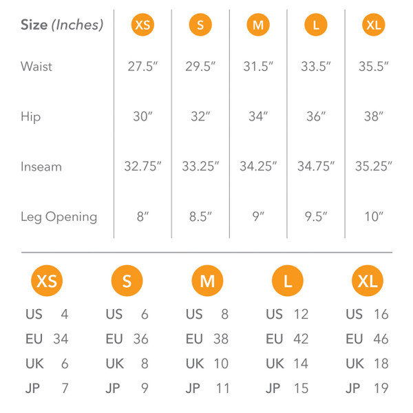Pick your Size on our Size Chart