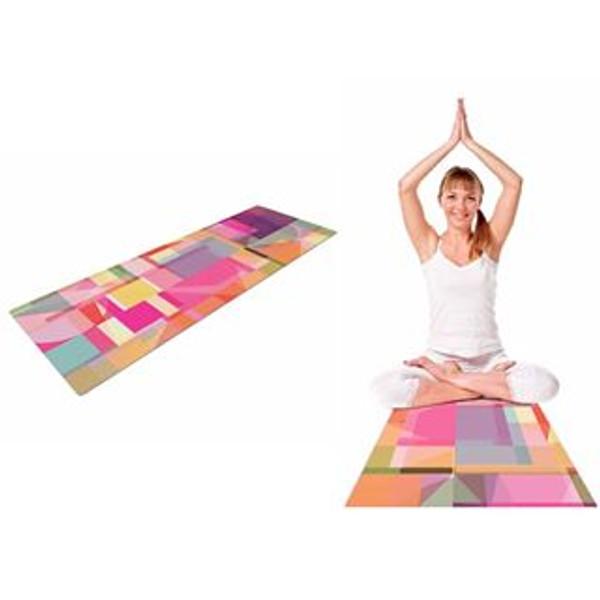 Geometric Pink Yoga Mat