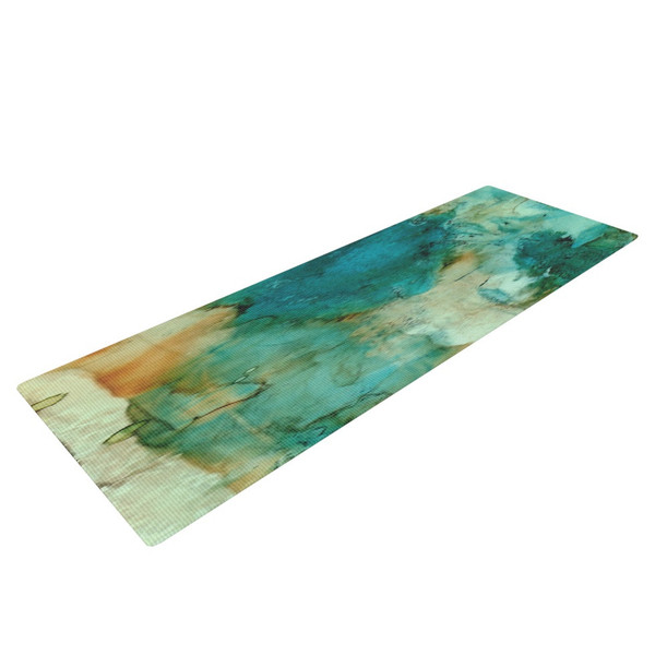 Water Color Zen Abstract Yoga Mat