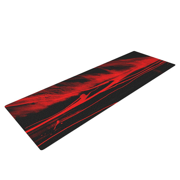 Volcanic Red and Black Yoga Mat - Feel the Power of the Earth