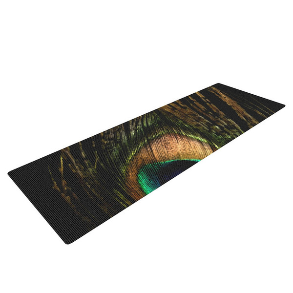 Peacock Feather Yoga Mat - feel the lightness and splendor of a peacock