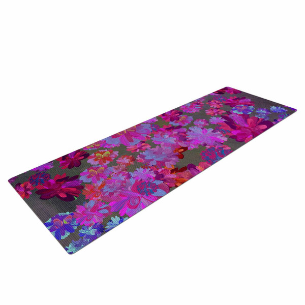 Floral Garden Oil Painting Yoga Mat