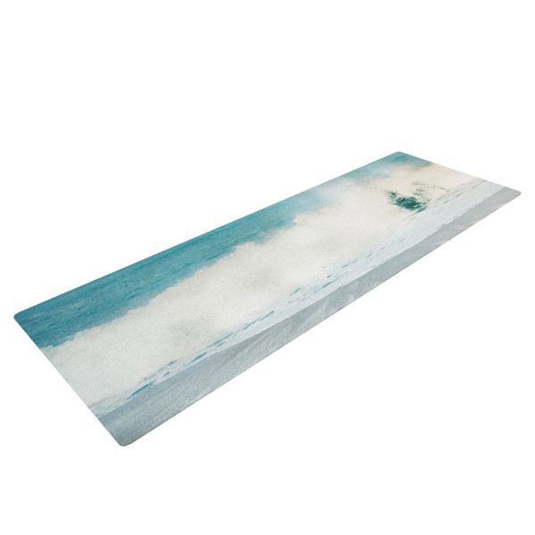 Crashing Waves Turquoise Yoga Mat - absorb the power of the sea