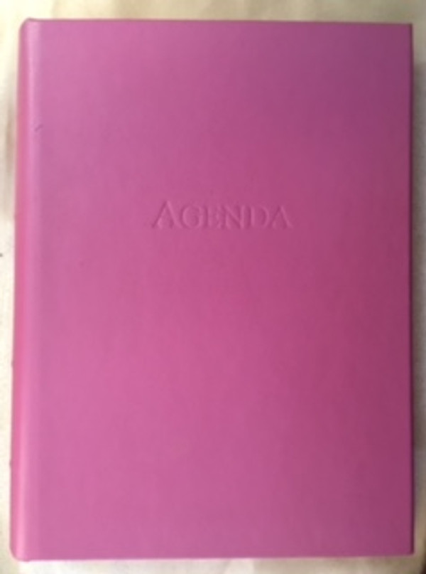 Pink 3-ring looseleaf Agenda