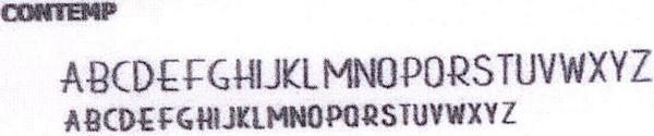 Address font Contemporary