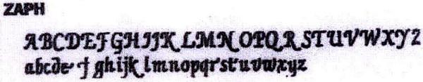 Address font Zaph