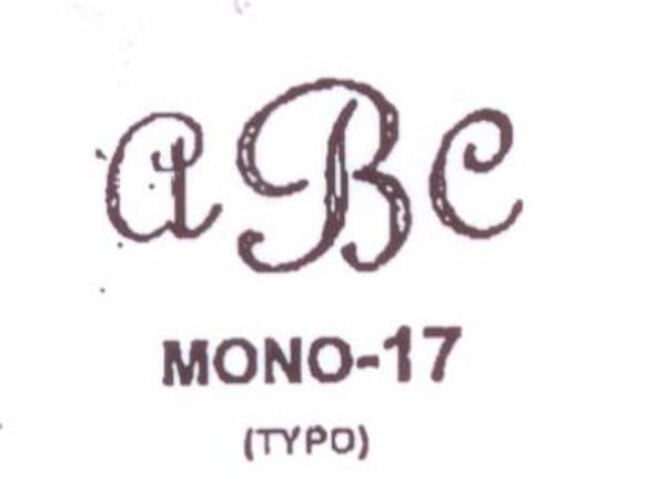 Center initial option: style Mono17