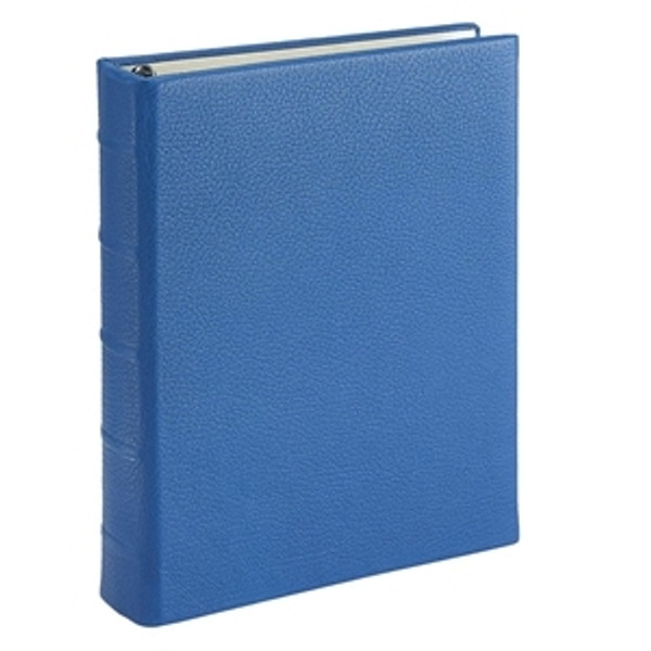 Ocean Blue Leather Loose-Leaf Address Book