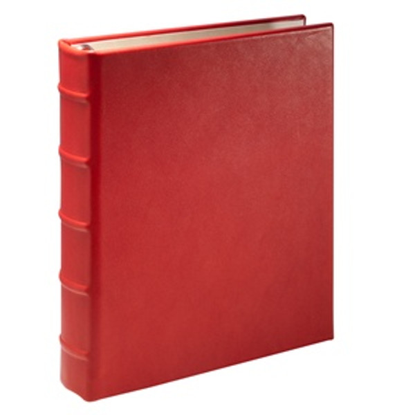 Red Leather Loose-Leaf Address Book