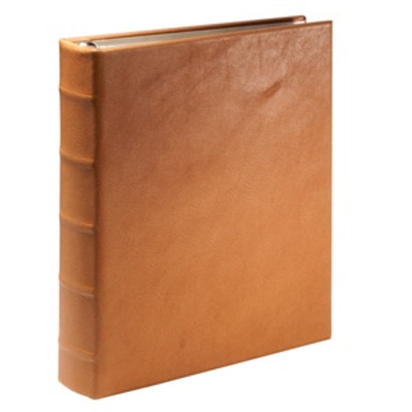 British Tan Leather Loose-Leaf Address Book