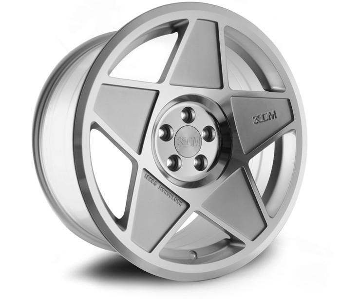 18x8.5 3SDM 0.05 5x100 ET35 CB73.1 Silver/Cut - max load 695kg