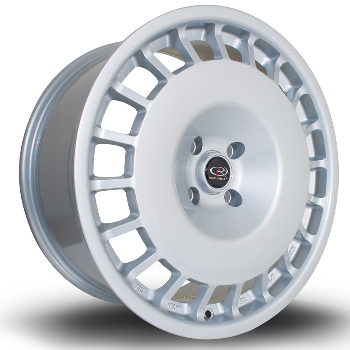 Rota D154 18x8.5 ET20 4x108 Silver srbpower.com