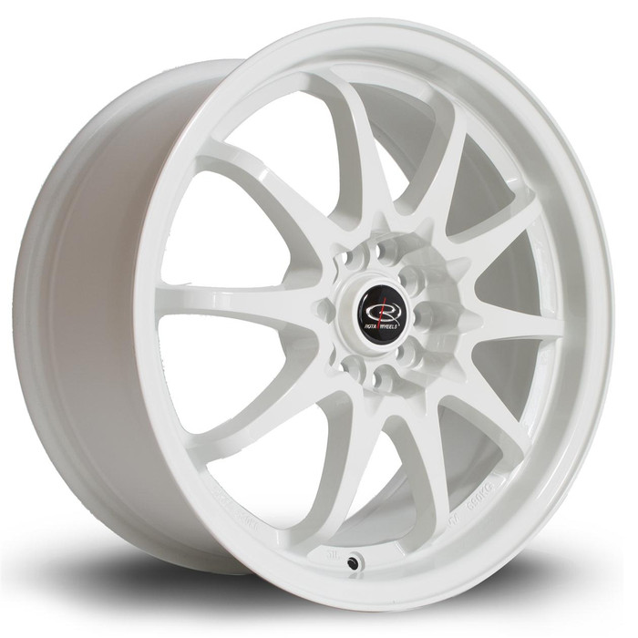 Rota Fight 17x8 ET48 5x100/114 White srbpower.com