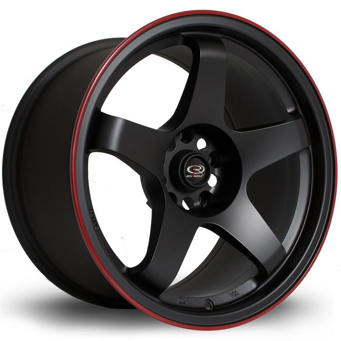 Rota GTR 17x9.5 ET30 5x114 FBlackRLip srbpower.com