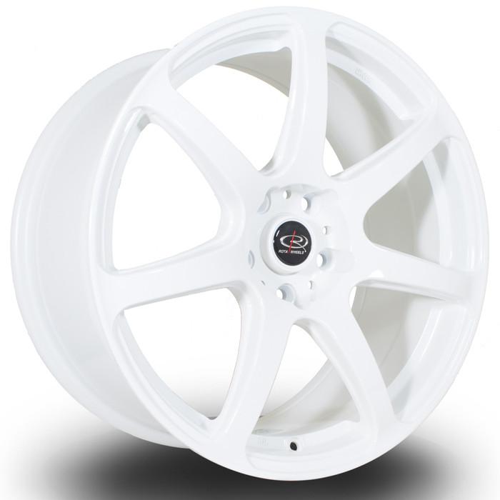 Rota ProR 18x8.5 ET30 5x114 White srbpower.com