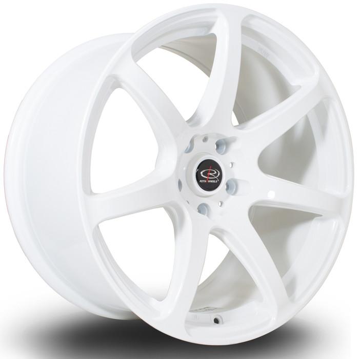 Rota ProR 18x9.5 ET30 5x114 White srbpower.com