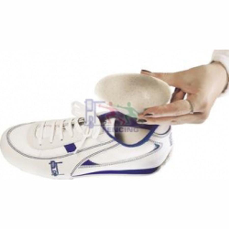Plastic heel cup protector