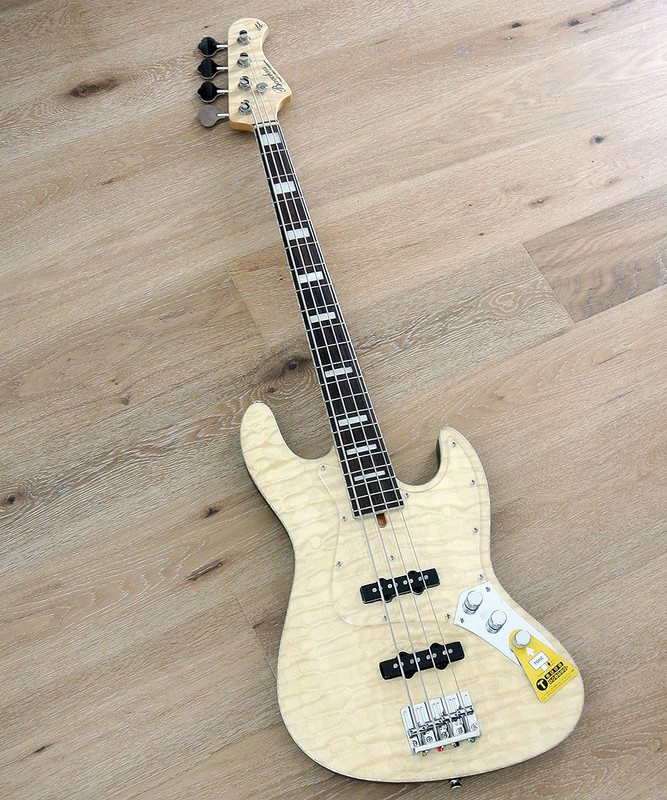 Bacchus Global Series - WL-007 - 4 String Bass - Quilted Maple Top Natural Oil Finish
