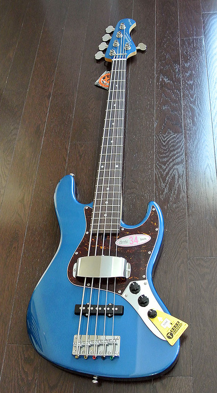 """Bacchus Global Series - WL-534 - 34"""" Scale 5 String Bass"""