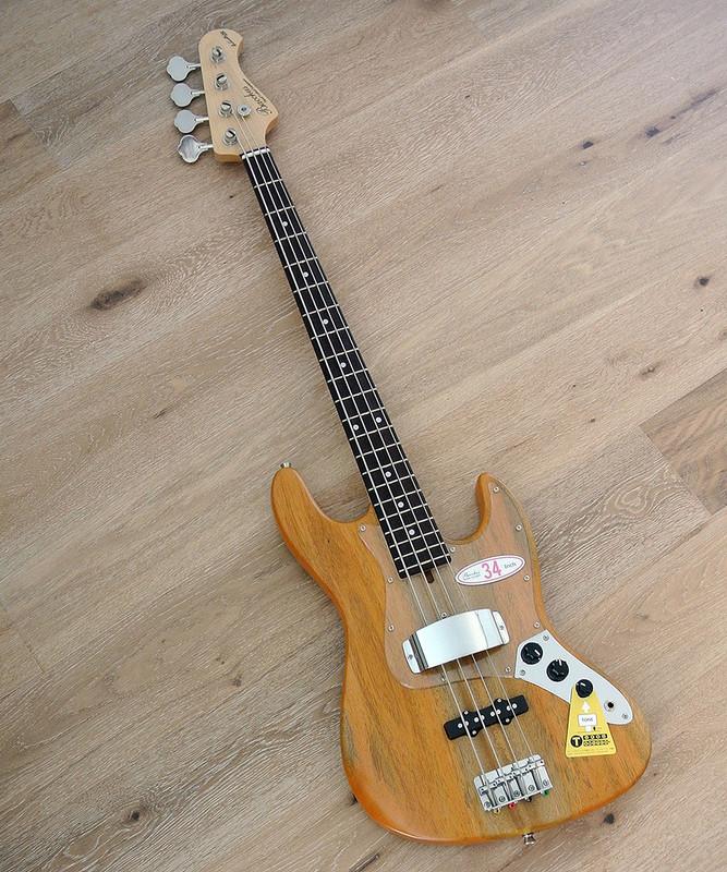 Bacchus Global Series - WL-434 Mahogany - 4 String Bass in Natural Oil Finish