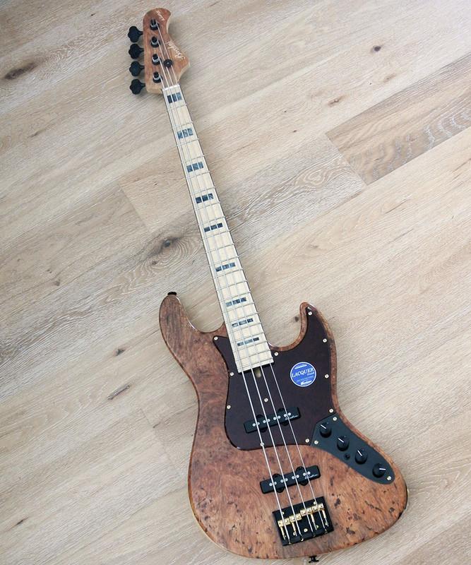 Bacchus Handmade Japan - Woodline 417 AC / EWC-BM - Active Bass with Burl Maple Top