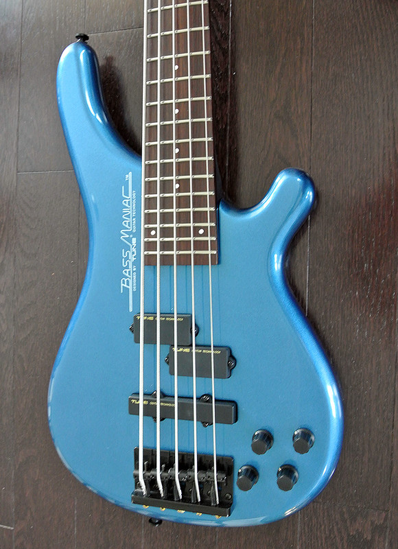 TUNE Bass Maniac TBJ51 - 5 string Bass - Metallic Blue