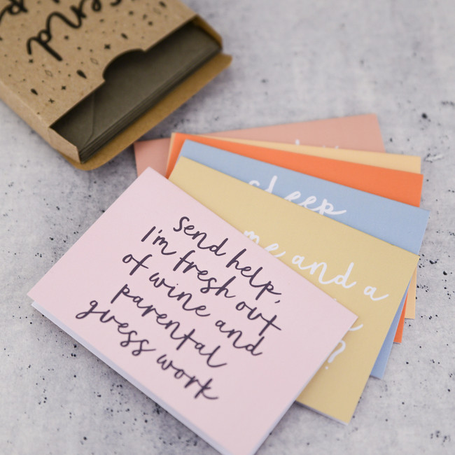 Send Help Note Card Set